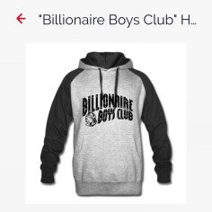NEW merchandise on www.KingFreshMusic.com! Billionaire Boys Club Hoodie, available in all sizes! #KingFresh #Clothing #Gear #BBC #billionaireboysclub #Howard #Hoodie